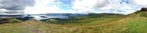 Panoramic shot of Loch Lomond Scotland
