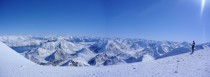 Panoramic Snowy Peaks Porters New Zealand