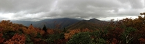 Panoramic View from Graybeard Mountain NC x