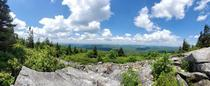 Panoramic view from the top of Spruce Knob the highest point in West Virginia