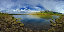 Panoramic view of Baikal Lake in Russia Photo by Dmitry Moiseenko