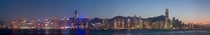 Panoramic view of Hong Kong Island
