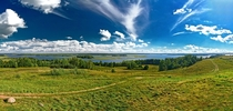 Panoramic view of Strusta Lake Braslau Lakes Belarus   photo by zedlik