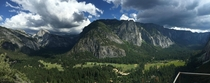 Panoramic view of Yosemite Valley