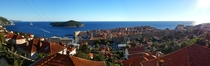 Panoramic view on Dubrovnik Old Town from the airbnb I stayed at