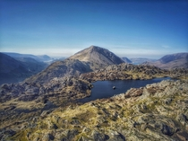 Panoramic views from the top of Haystacks - Lake District UK  x