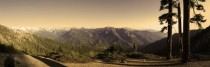 Panther Gap - Panorama at Sunset Sequoia National Park California