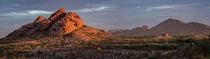 Papago Park Panoramic Morning Sunrise Phoenix Arizona