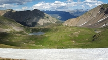 Parika Lake Colorado Taken from atop the saddleback -    x