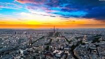 Paris amazing top view