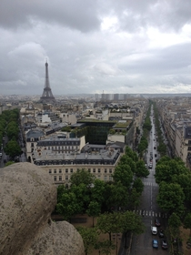 Paris France from Arc de Triomphe