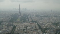 Paris France in low clouds