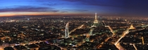 Paris France - Panorama at Dusk