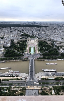 Paris from atop the Eiffel Tower