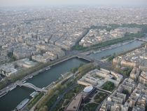 Paris from inside the Eiffel Tower