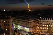 Paris from the galeries lafayettes roof