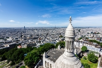 Paris from the top of Sacr-Cur Basilica