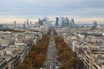 Paris looking at La Dfense which is Europes largest purpose-built business district