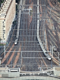 Paris Montparnasse with TGV sets