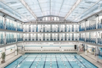 Paris swimming pool architecture photographed by Ludwig Favre