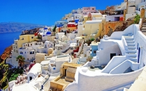 Parkour Heaven in Santorini Greece