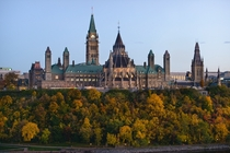 Parliament Building in the Fall