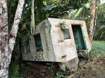 Part of an abandoned rich mans estate  stillborn eco-lodge in Peruvian jungle