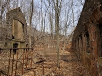 Part of the abandoned Cornish Estate Cold Spring NY USA Spring