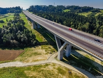 Part of the new S expressway south of Krakw Poland