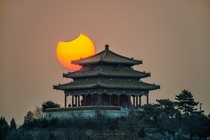 Partial Eclipse over Beijing on January