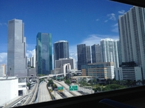 Partial skyline view of Miami Florida