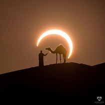 Partial solar eclipse over the UAE