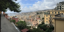 Partial view of the port and historical district of Genoa Italy