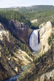 Partly cloudy with a chance of waterfalls Grand Canyon of the Yellowstone Wyoming USA