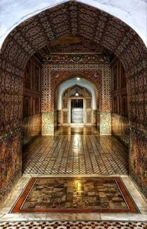 Passage into Emperor Jahangirs Tomb Lahore Built