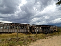 Passenger train cars near Virginia City MT