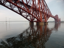 Passing under the Forth Rail Bridge Scotland