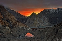 Passu in Pakistan looks like Mordor Photo by Atif Saeed