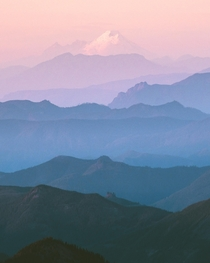 Pastel dreams in the Cascade Range Mount Rainier National Park