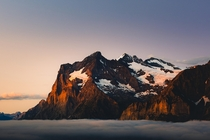 Pastel skies and intense alpenglow in Switzerland