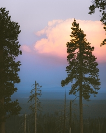 Pastel skies over Bend Oregon My first time in the area certainly not my last