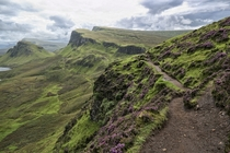 Path to Quirang - Isle of Skye Scotland