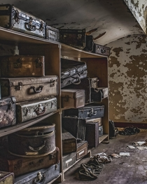 Patient luggage stored in the attic of a mental asylum ocx