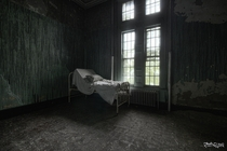 Patient Room Inside an Abandoned State Hospital in New York