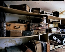 Patients suitcases stored away for decades in an attic of an abandoned Tennessee psychiatric hospital Photo by Lindsay Blair Brown