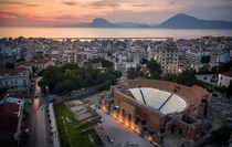 Patras Greece In the photo you can see the ancient roman conservatory located in Patras built in the nd century AD