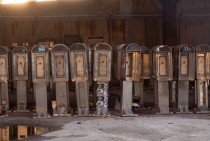 Pay phone graveyard in Manhattan  Photo By Dave BledsoeFreeVerse Photography