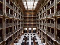 Peabody Library in Baltimore MD