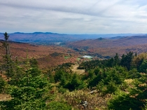 Peak Foliage from Spruce Peak of Smugglers Notch VT