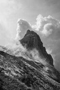 Peak hrlikopf near Sntis surrounded by clouds Appenzell Switzerland  IG - rfmphotography